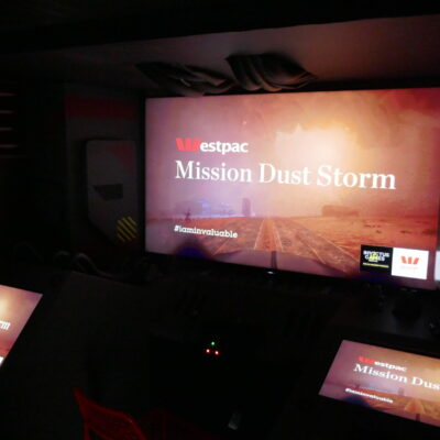 Westpac Mission Dust Storm interactive experience at the Invictus Games in Sydney.
