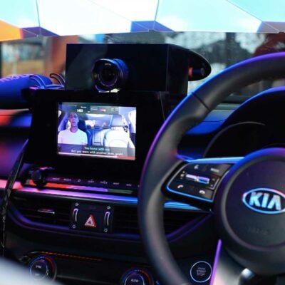 Kia Caraoke Studio experiential marketing created by creative technology agency S1T2 inside a Kia Cerato.