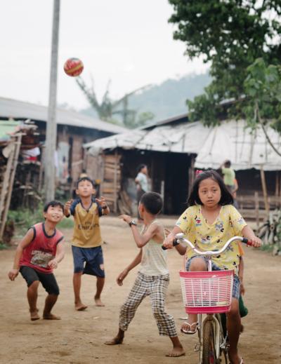 Children in Myanmar.