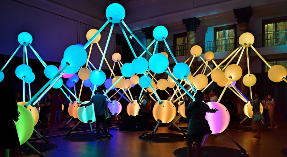 Affinity interactive light artwork from creative agency S1T2.