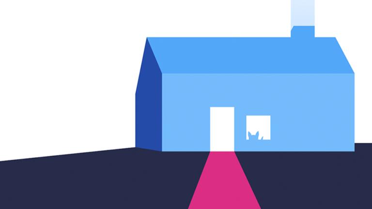 Screenshot of art direction from Athena launch website design.