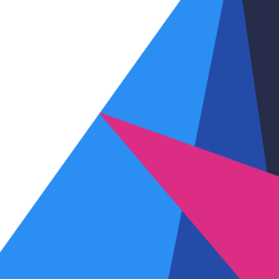 Screenshot of the bold, geometric 'A' logo on the Athena Home Loans brand launch website.