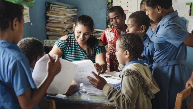 Feature image for article about teacher using Beyond the Stars program in Fiji.
