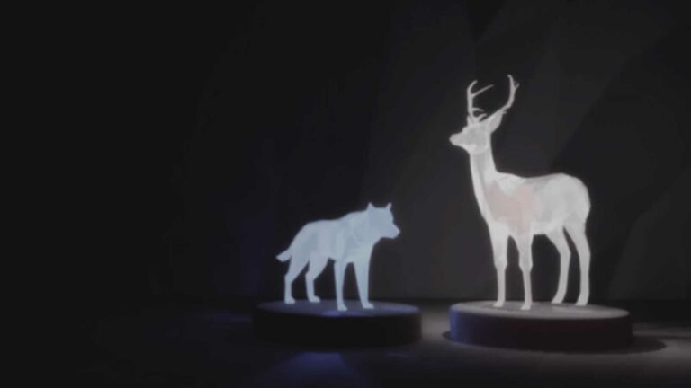 Creative lights of Deer and Wolf.