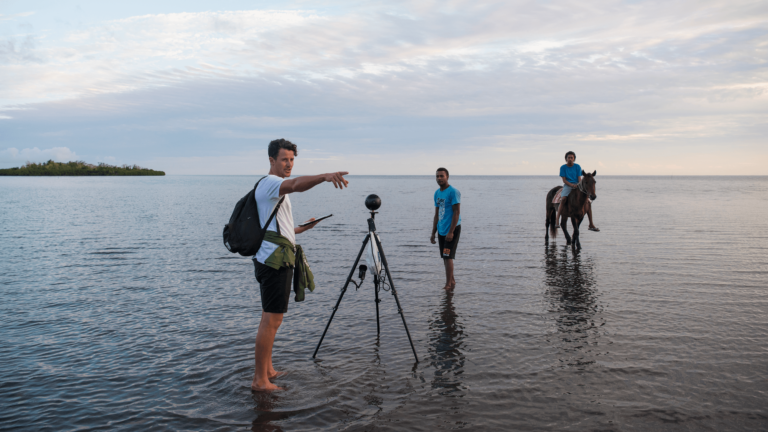 Behind the scenes for COP23 virtual reality in Fiji.