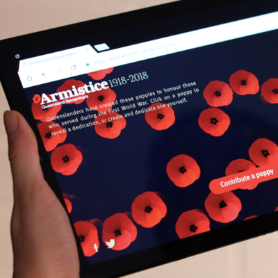 Queensland Remembers WebGL website design from creative technology studio S1T2.