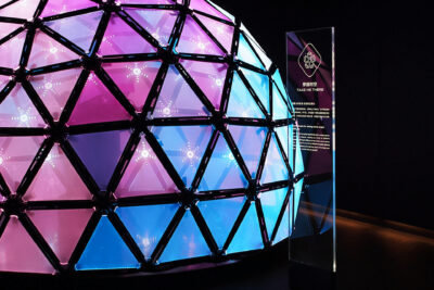 Take Me There LED dome interactive experience at vivo Lab in Shenzen.