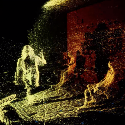 In-game screenshot of point cloud render from Nuclear Research collaboration between S1T2 and UNSW.