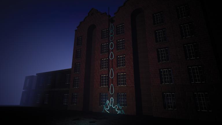 3D render of Fall immersive light artwork debuting at Vivid Sydney 2021.
