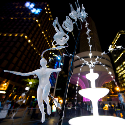 Vivid Fountain data visualisation and light sculpture by creative technology studio S1T2.