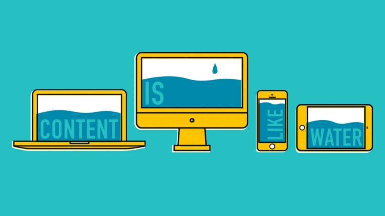 Website content water animation.