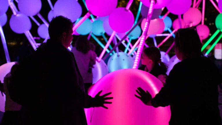 Users playing with creative Interactive Lights.
