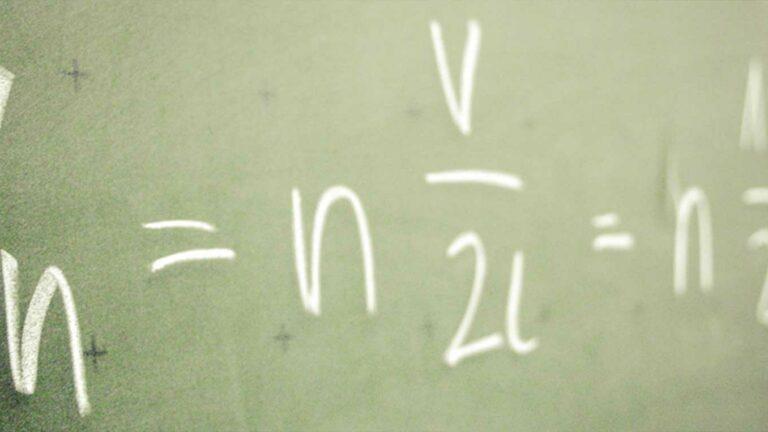 Maths on Chalkboard.