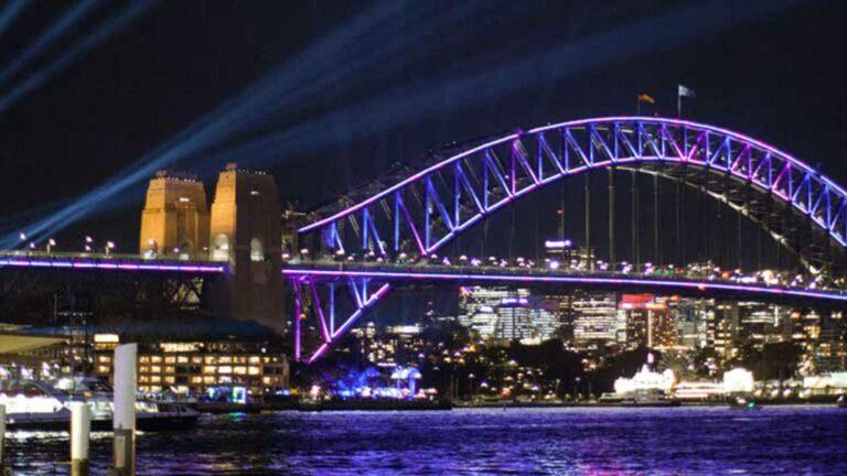 Sydney Harbour Bridge Interactive Installations Vivid Festival.