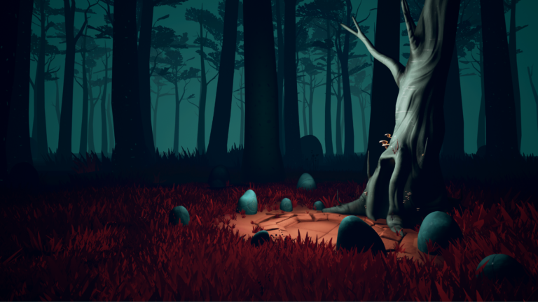 Screenshot from immersive environment in Kept virtual reality experience.