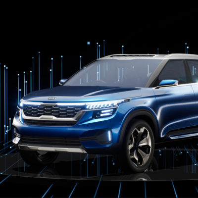 In-game screenshot of digital Kia Sportage created for hologram experience by creative technology studio S1T2.
