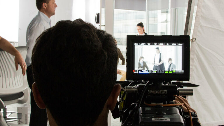 Behind the scenes filming of the Westpac Innovation Hub.